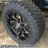 20x9 Fuel Lethal D567 black and milled wheel - LT285/55r20 Nitto Terra Grappler G2