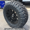 18x9 XD Hoss 2 gloss black wheel 829 - 33x12.50r18 Toyo Open Country MT tire