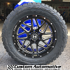 20x9 Hostile Sprocket H108 Blade Cut gloss black and milled wheel - 33x12.50r20 Toyo Open Country R/T tire