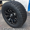 20x9 Fuel Assault D576 Gloss Black and Milled wheel - 35x12.50r20 Nitto Terra Grappler G2