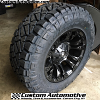 18x9 Fuel Vapor D560 Matte Black wheel - LT285/65r18 Nitto Ridge Grappler
