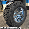 20x14 Fuel Maverick D536 chrome wheel - 36x15.50r20 Mickey Thompson MTZ P3