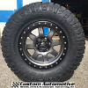 17x8.5 Fuel Trophy D552 Anthracite with black beadlock wheels and LT285/70r17 Nitto Ridge Grappler tires