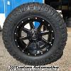18x9 Fuel Maverick D538 Black and Milled wheel - LT275/70r18 Nitto Ridge Grappler tire