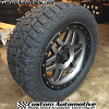 20x9 XD Machete 127 gray and black wheel - LT285/55r20 Toyo Open Country AT2 Extreme tire