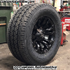 18x9 Fuel Vapor D560 matte black wheel - LT325/60r18 Nitto Dura Grappler tire