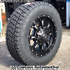 20x9 Fuel Krank D517 Black and milled wheel - 35x11.50r20 Nitto Terra Grappler G2