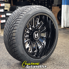 22x12 Hostile Fury H114 Blade Cut wheel - 305/40r22 Toyo Proxes ST