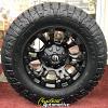 18x9 Fuel Vapor D560 matte black wheel - LT285/70r18 Nitto Ridge Grappler tire