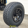17x9 Fuel Ripper D589 black wheel - LT285/75r17 Nitto Terra Grappler G2
