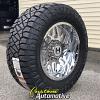 20x10 Hostile Sprocket H108 chrome wheel - 35x12.50r20 Nitto Ridge Grappler
