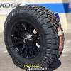 18x9 Fuel D560 Vapor Black wheel - LT285/75r18 Nitto Ridge Grappler tire