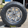 18x9 KMC XD Badlands 779 Chrome wheel - 305/60r18 Nitto Terra Grappler G2 tire