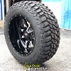 20x12 Moto Metal 970 Gloss black and machined wheel - 35x12.50r20 Mastercraft Courser MXT tire
