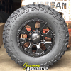 17x9 HE878 Helo Black wheels - LT285/70r17 Mastercraft Courser MXT tires