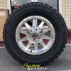 18x9 Method Standard silver and machined wheel - 33x12.50r18 Toyo Open Country RT tire