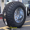 20x14 Fuel Maverick D536 chrome wheel - 40x15.50r20 Nitto Trail Grappler MT tire