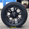 20x9 Fuel Vapor D569 Black and Dark Tint Machined wheels - 33x12.50r20 Toyo Open Country AT2 Extreme tires