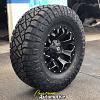 17x9 Fuel Assault D546 black and milled wheel - 35x12.50r17 Nitto Ridge Grappler tire