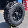 17x9 Helo HE878 black wheel - LT275/70r17 BFGoodrich All Terrain KO2 tire