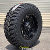 17x9 Fuel Hostage D531 Black wheel - LT285/70r17 Mastercraft Courser MXT tire