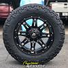 20x10 Fuel Hostage D531 Black wheel - LT295/60r20 Nitto Trail Grappler tire