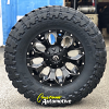 18x9 Fuel Assault D546 Black and Milled wheel - 35x12.50r18 Toyo Open Country MT tire