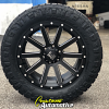 20x9 XD Heist 818 black and milled wheel - LT295/55r20 Nitto Ridge Grappler tire