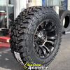18x9 Fuel Vapor D569 Black with Dark Tint Machined wheel - LT275/65r18 Toyo Open Country MT tire