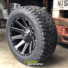 20x10 Fuel Contra D616 matte black and milled wheel - LT305/55r20 Toyo Open Country AT2 Extreme tire