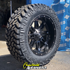 22x11 Fuel Hostage D531 Black wheel - 37x13.50r22 Nitto Trail Grappler MT Tire