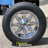 18x9 Fuel Hostage D530 Chrome wheel - 265/60r18 Toyo Open Country AT2 tire