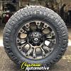 18x9 Fuel Vapor D569 Black with Dark Tint Machined wheel - LT275/70r18 Nitto Ridge Grappler tire