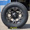 20x9 Fuel Vapor D569 Black with Dark Tint Machined wheel - LT295/65r20 Nitto Terra Grappler G2 tire