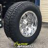20x10 Fuel Hostage D530 chrome wheel - 37x12.50r20 Nitto Terra Grappler G2 tire