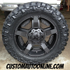 20x9 XD Rockstar II RS2 811 Black - LT295/55r20 Nitto Trail Grappler