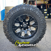 17x9 Helo HE878 black wheel - LT285/70r17 Federal Xplora MT