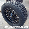 20x9 Moto Metal 962 Black - LT285/55r20 Toyo Open Country AT2