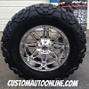 20x10 Fuel Hostage D530 Chrome PVD wheels with 37x13.50r20 Nitto Mud Grappler tires
