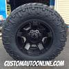 17x9 XD Rockstar II RS2 811 Black Wheel - LT295/70r17 Nitto Trail Grappler tire