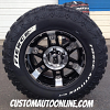 17x9 KMC XD Series Spy 797 Black wheel - LT285/70r17 Fierce Attitude MT tires