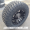 18x9 KMC XD Series Monster 778 Black Wheel - LT285/65r18 Nitto Trail Grappler tire