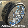 24x9.5 KMC Series KM651 Slide Chrome wheel with 275/30r24 Durun Tires