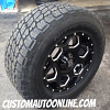 KMC XD Series 813 Batallion Black wheels with 305/60r18 Nitto Terra Grappler tires