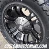 18x9 KMC XD 778 Black wheel - 33x12.50r18 Toyo Open Country MT tire