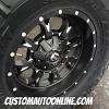 18x9 Fuel Krank D517 Black wheel - 35x12.50r18 Nitto Trail Grappler tire