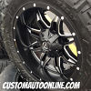 20x10 Fuel Off-road Lethal D567 Black/Milled wheel - 35x12.50r20 Nitto Trail Grappler tire