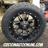 20x10 Fuel Lethal D567 Black/Milled wheel - LT285/55r20 Nitto Terra Grappler tire