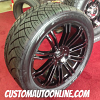 22x9.5 KMC Wheels KM677 D2 Black - 305/40r22 Nitto NT420 tires