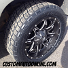 20x9 Fuel Offroad Lethal D567 Black wheels - 285/50r20 Nitto Terra Grappler tires